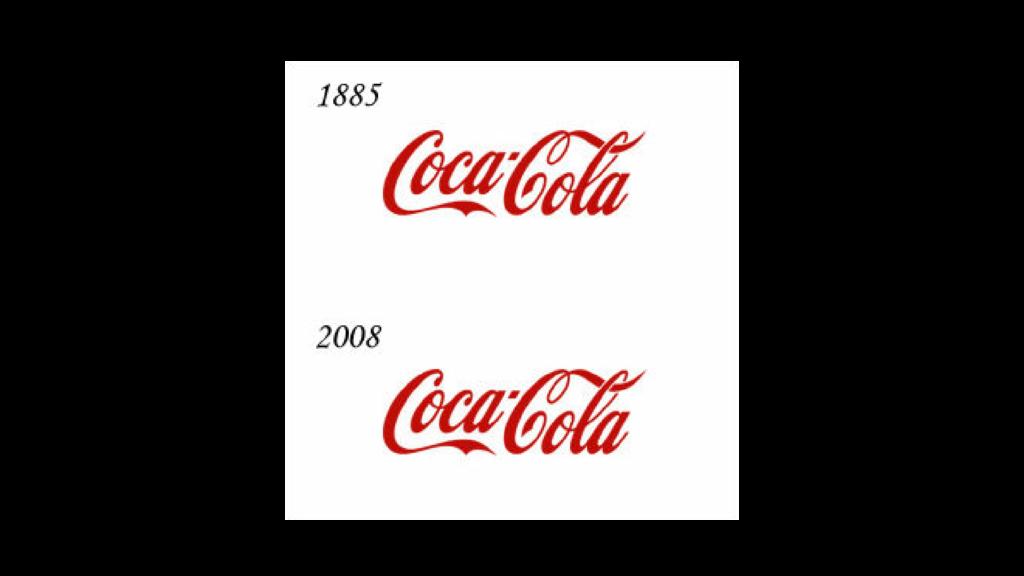 1885より変わらない一貫したトンマナ 。コカコーラのロゴ